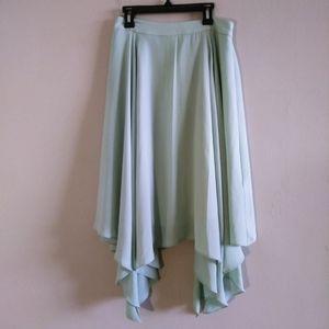 Banana Republic Woman Green Flowing Skirt 0P
